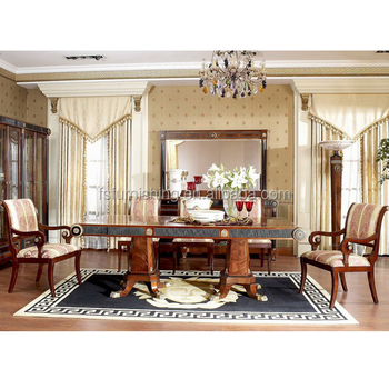 YB10 Luxury Italy Mahogany Royal Palace 8 12 Chairs Dining Room Furniture 18th Century Antique