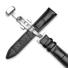 Ремешок для часов, из натуральной кожи аллигатора, для часов Tissot/Seiko, 18/19/20/21/22/24 мм(Китай)
