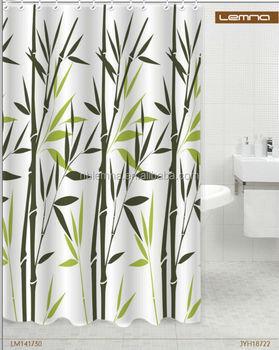 Fresh Bamboo Nature Design Polyester Shower Curtain - Buy Bamboo ...
