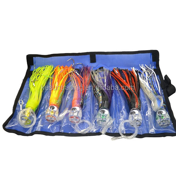 Pusher style Marlin / Tuna Mahi Dolphin Durado Wahoo Trolling Lures. Rigged and bag included tuna