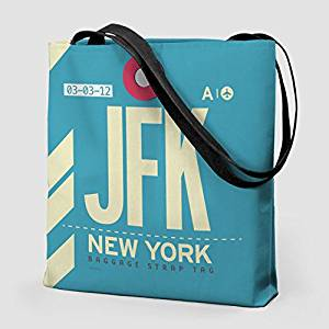 "Airportag JFK - 16"" TOTE BAG John F. Kennedy Airport - New York City - New York, US"