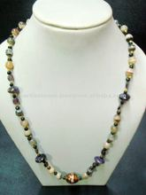 Banded onyx necklace