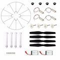 Syma X5HW X5HC Quadcopter Set Replacements Battery with Motors Propellers Landing Skid Protectors Motor Gear Propeller