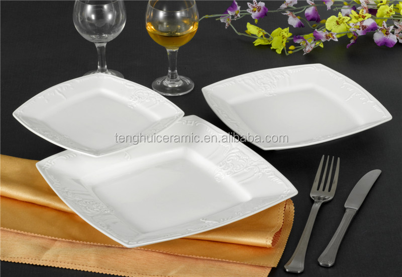 White Embossed Dinner Plates White Embossed Dinner Plates Suppliers and Manufacturers at Alibaba.com & White Embossed Dinner Plates White Embossed Dinner Plates Suppliers ...