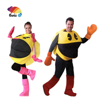 Hot Wholesale Halloween Carnival Party Game Pac Man Cosplay Costume For Adult Couple