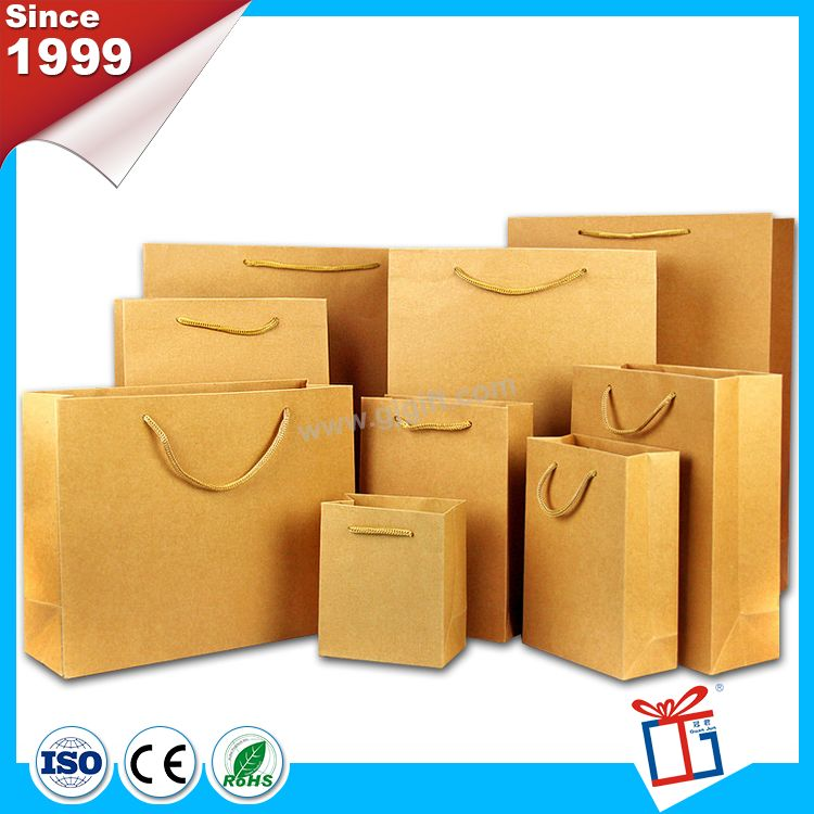High brightly kraft paper bag with handle