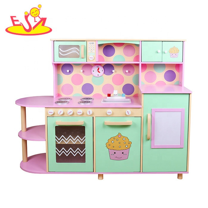 New Design Children Wooden Toy Kitchen Set Best Kids Play Funny Toddlers Toys W10c283