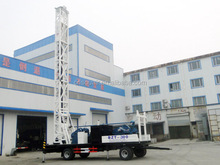 BZCT300SZ trailer mounted drill rig rotary down the hole rig 300m hole depth 500mm hole diamter water well drilling rig hot sale