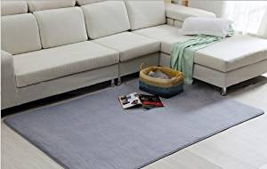Nicedeco Comfortable Rug Approx. 100*120cm Coralon Leather Wholesales Price Color Grey Flexible/Soft/Smooth Carpet/Mat/Rug Suitable For Stairway/Toilet/Study/Floor/Bedroom/Living Room/Bathroom/Kitchen/Home Decoration/Area