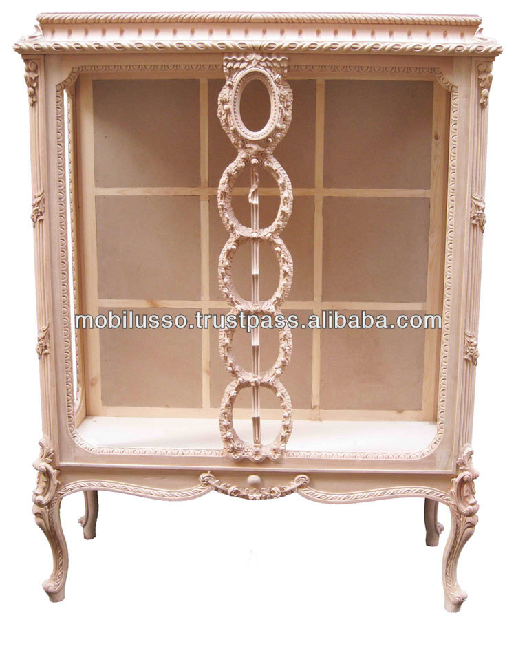 French Antique Carved Display Cabinet Vitrine - European Style Display  Cabinet - Buy French Vitrine Antique Furniture,Carved Display Cabinet,Louis  Xv ... - French Antique Carved Display Cabinet Vitrine - European Style