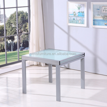 Chic Painting Square Tempered Glass Extendable Metal Legs Dining Table Buy Square Glass Extendable Dining Table Square Tempered Glass Extendable Dining Table Glass Extendable Dining Table Product On Alibaba Com