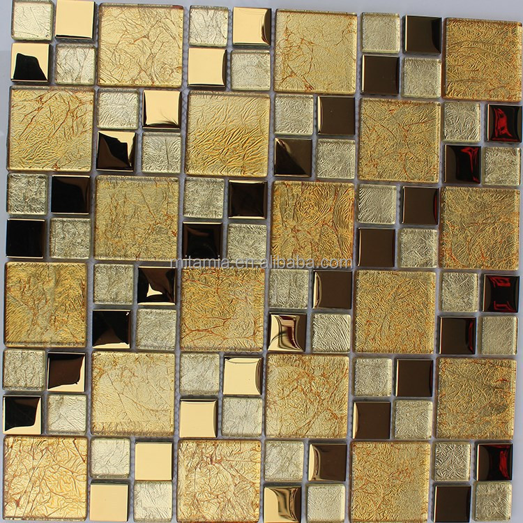 glitter goldfolie glas fliesen glasmosaik gold mosaik bad. Black Bedroom Furniture Sets. Home Design Ideas
