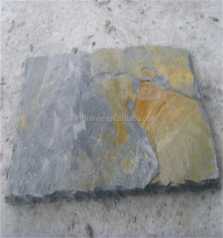 cheap natural outdoor grey slate stepping stone tile flooring