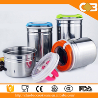 Custom Wholesale Stainless Steel Tea Coffee Sugar Canisters