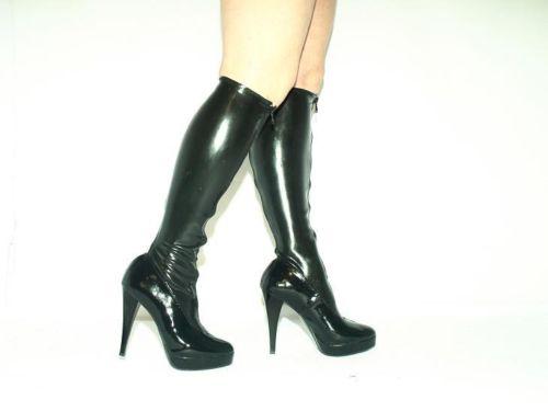 High heels stiefel lack pu stretch size 35 47 producer Polen heel 13cm