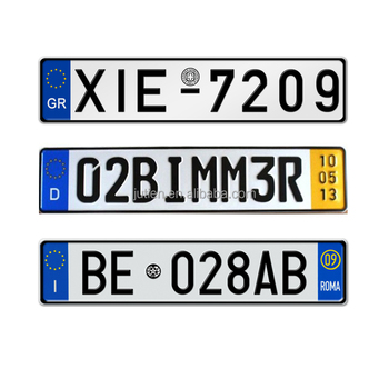 European Size Reflective Film Hologram Sticker License Plate Flag