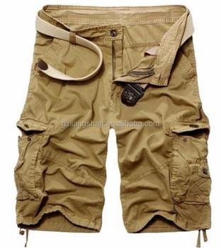 b7a93f21ae Moda de verano 3 4 hombres pantalones cortos de camuflaje ejército suelto  casual de carga