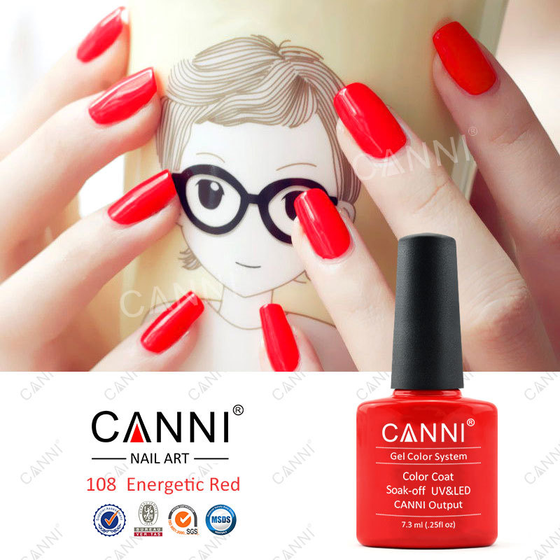 30917x Hot Sale Canni Nail Art Design Red Color Good Quality Soak ...