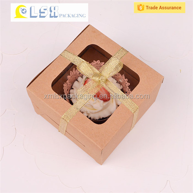 Small Cake Box with Rectangle Handle,Food grade swiss roll paper cake box for macaron with window and cake box wi,paper cake box