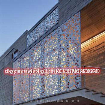 Aluminum Decorative Exterior Laser Cut Wall Panel Panels