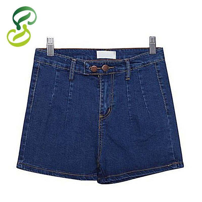 016791b42e6 Get Quotations · 2015 New Summer Style Shorts Women High Waist Short  Feminino Casual Slim Jeans Woman Denim Shorts