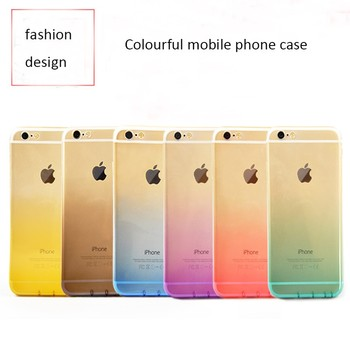 DFIFAN case for iphone6 tpu, color changing gradient clear Soft TPU Bumper for iphone 6s cover Shell