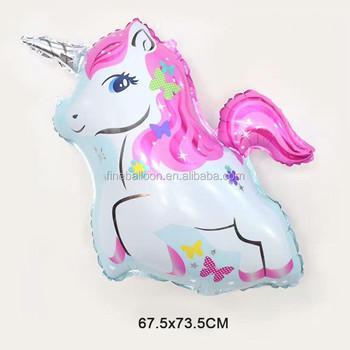 enfants de jour petit poney licorne forme parti dcorations mylar matriel feuille dhlium ballons - Poney Licorne