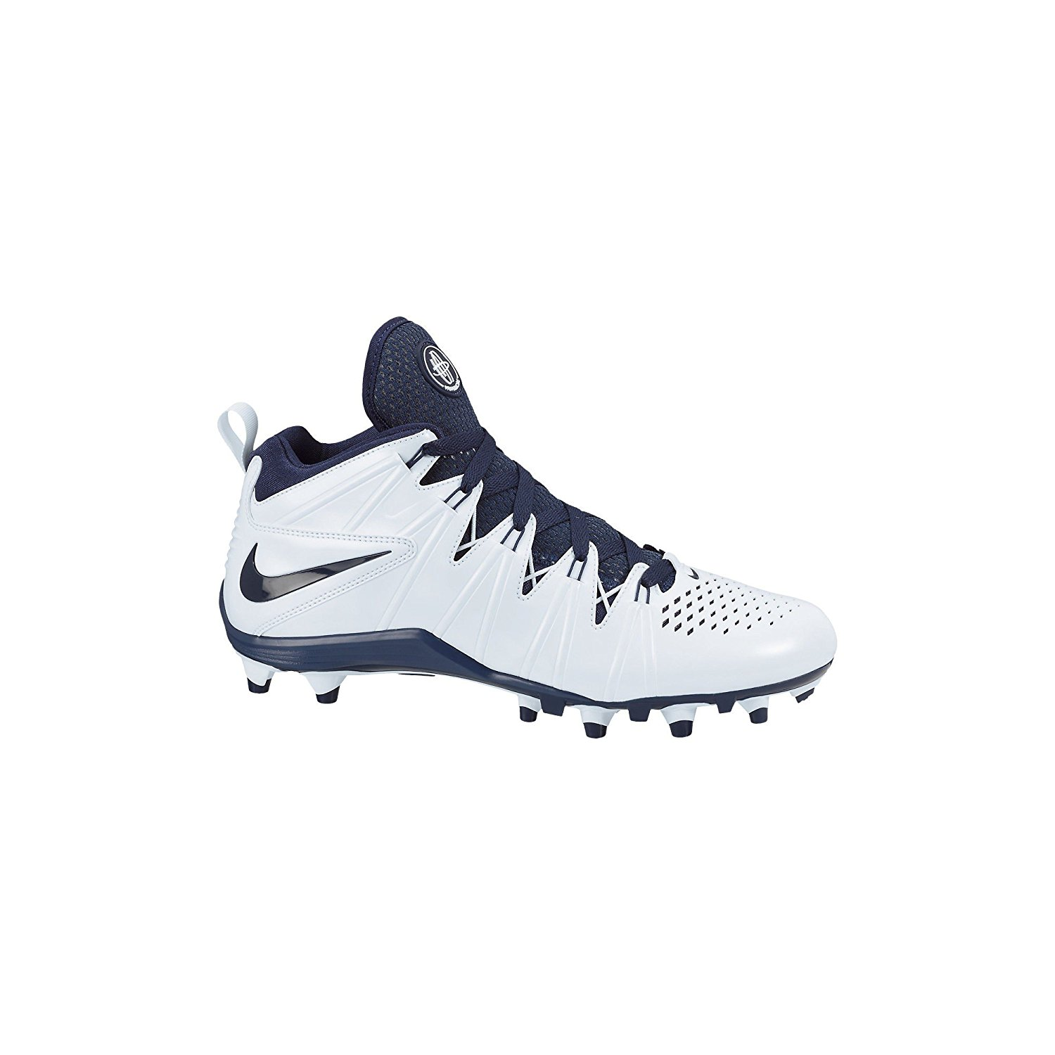 Get Quotations · Mens Nike Huarache 4 Lax 616296 141 White Navy Football  Cleat Shoe (MEN SIZE 10