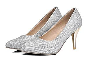 Spring 2015 New Shoes Female Korean Red Sequined Wedding Shoes Gold Silver Thin Heel Shoes Large Size Shoes Women
