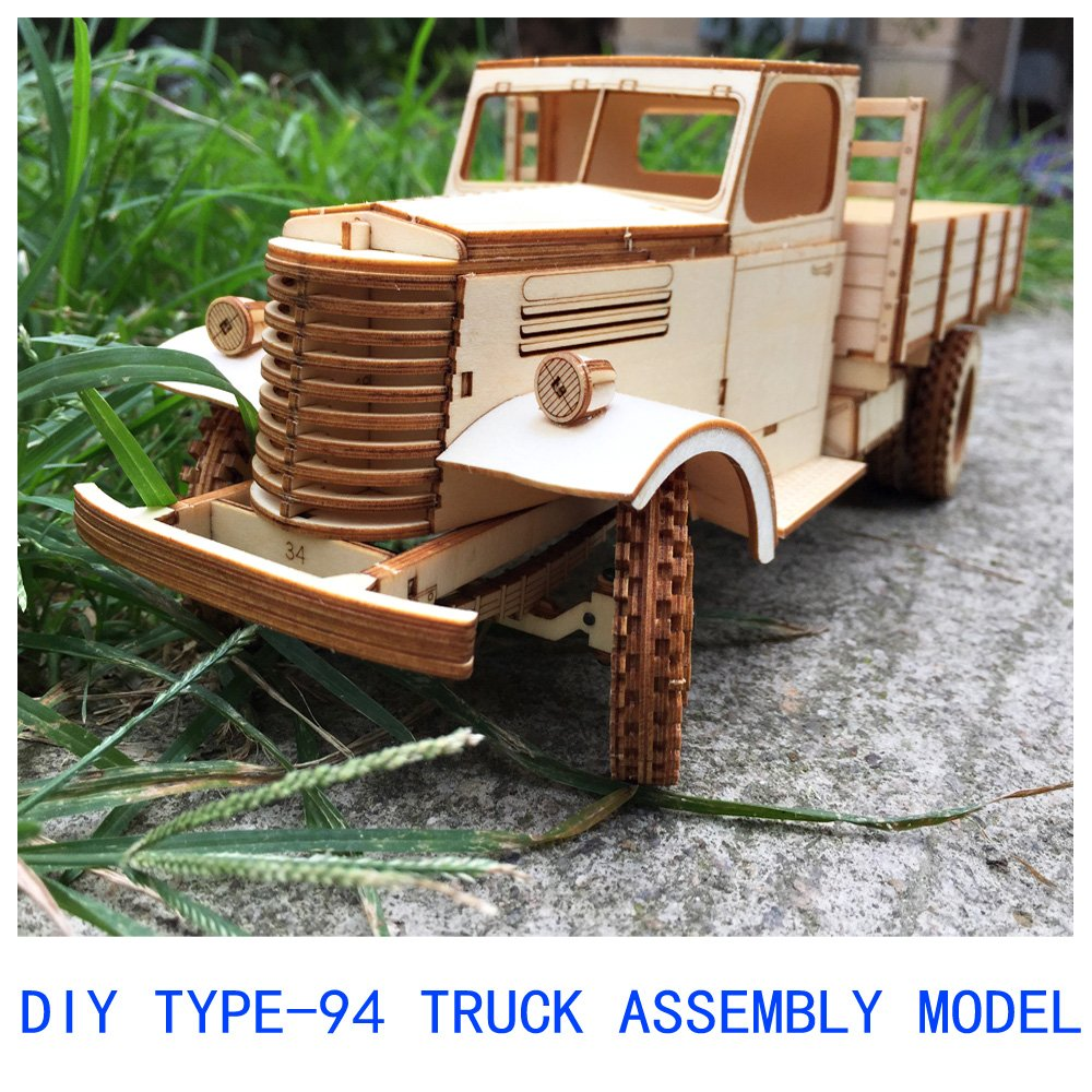 3D Wooden Dump Truck Building Kit Large DIY Wood Car Creative Construction Toy for Kids by CZYY