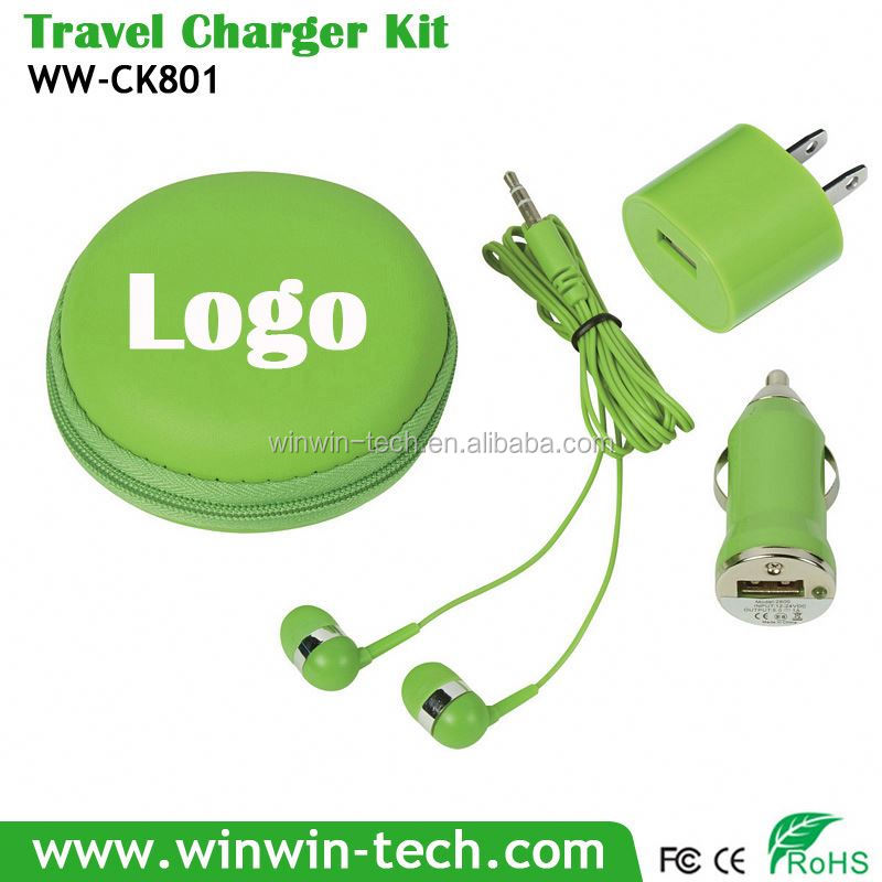 corporate gifts power bank universal charger set for mobile phone/mp3 players