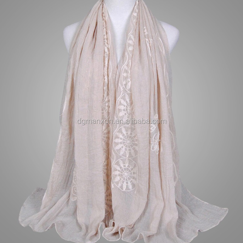 New Style flower Muslim Hijab Shawl Cotton Linen Scarves