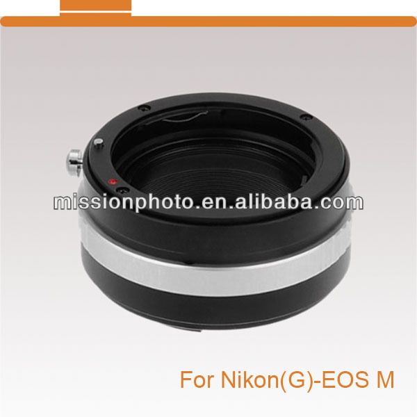 lens adapter for Nikon G mount lens to Canon EOS(M) camera body