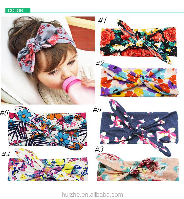 Children Bohemian Fashion Headwear Printed Cross Hair Band Baby Unisex Print Knot Cross Headband Baby Hair Accessories