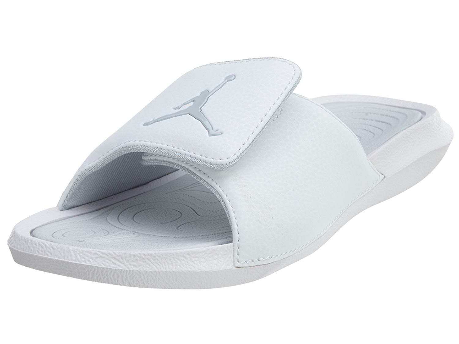 718d8a12da743e Get Quotations · Jordan Hydro 6 BG Big Kid s Slides White Pure Platinum  881474-100