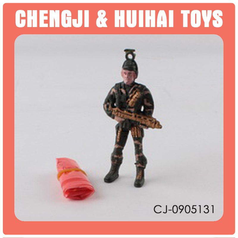 Most popular pvc military paratrooper toy small plastic soldier toys
