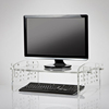 Clear Acrylic Laptop Table, Lucite Monitor Stand, Plexiglass Monitor Riser
