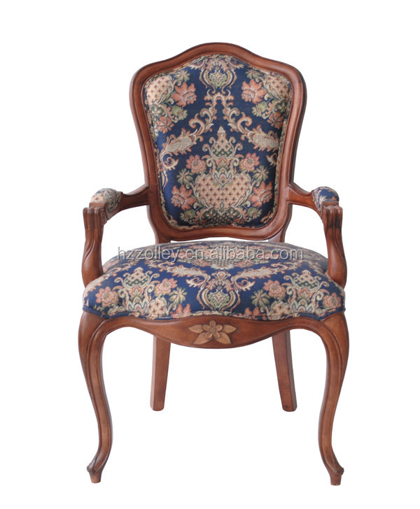 American Dining Room Chair antique Wooden Fabric