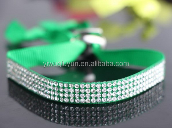 Adjustable 4 rows wholesale elastic ribbon bracelet handmade rhinestone crystal bracelet