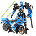 Motorcycle Model Transformative Al West Carroll Robot Car Action toys Anime Plastic Toys Action Figure Boys