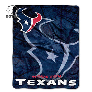 Most popular and Best price china factory wholesale nfl blankets sports team logo throw blankets