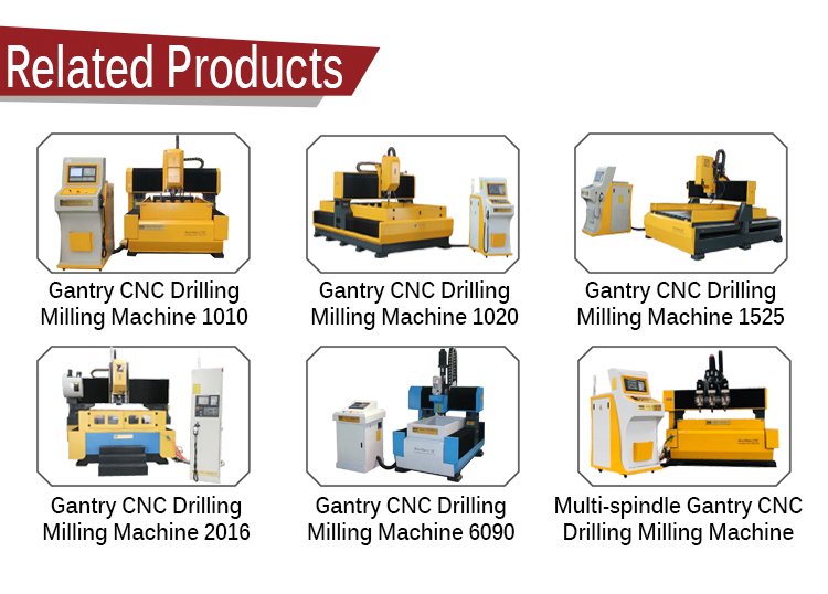 CNC Cantilever mobile Servo motor drilling machine for metal tube processing