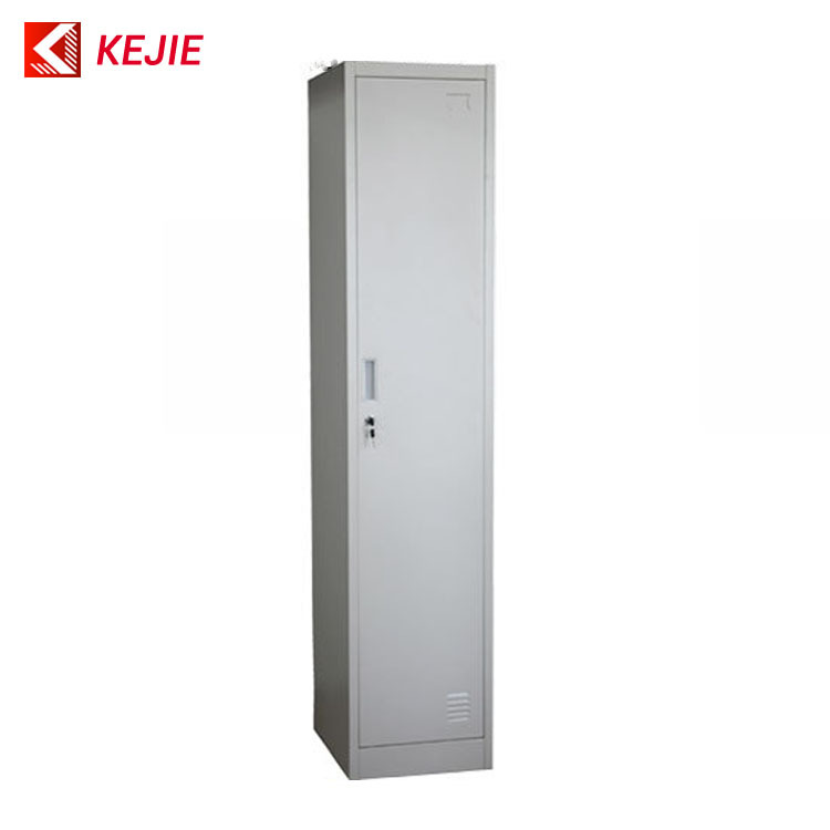 Dubai Hot Used Steel Cabinet Clothes Locker Single Door Metal Closet  Wardrobe Fireproof Metal Clothing Cabinets