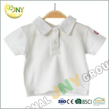 Children Clothing Cotton Baby Shirt Custom Printing Plain White Kids