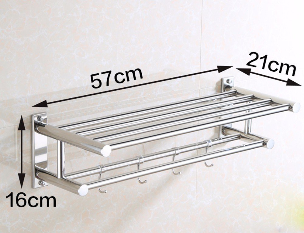 DACHUI Sealed stainless steel towel rail toilet Wall mounting 571621