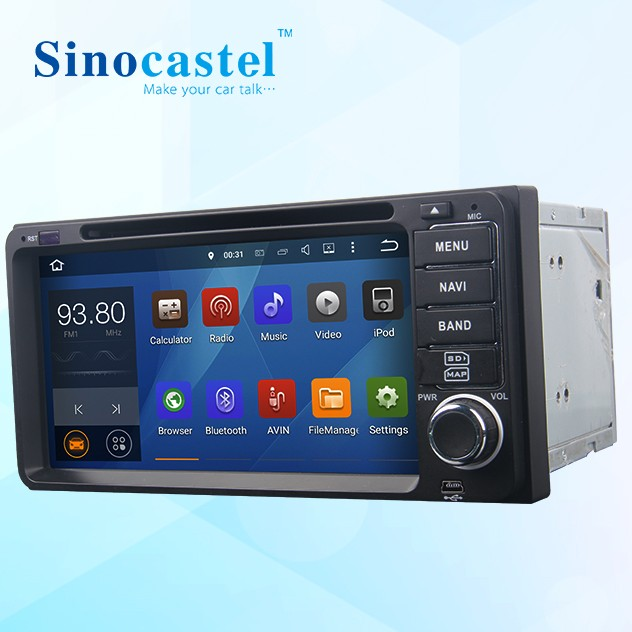 Good quality 6.95 inch <strong>android</strong> 5.1.1 quad core <strong>toyota</strong> <strong>universal</strong> 2 din car radio with reversing camera BT gps