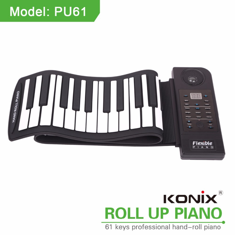 Professional manufacturer hand roll piano 61-key digital portable