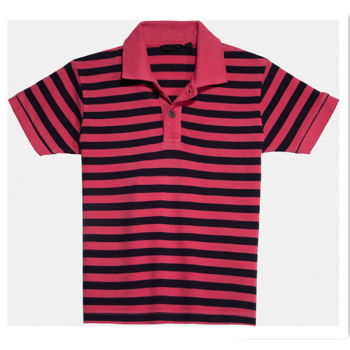 Navy And Pink Striped Pique Boys Polo T Shirt - Buy Boys Polo T ...