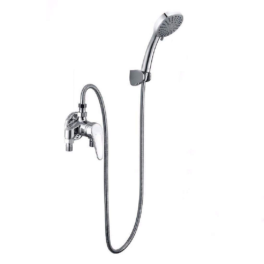 WAWZJ Bathroom Shower Set Bright Shower Shower Full Copper Hot And Cold Water Mixing Shower