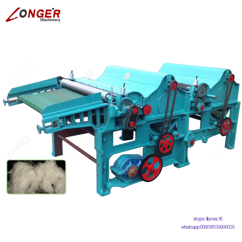 Commercial Used Hemp Fiber Scotching Textile Waste Recycling Machine